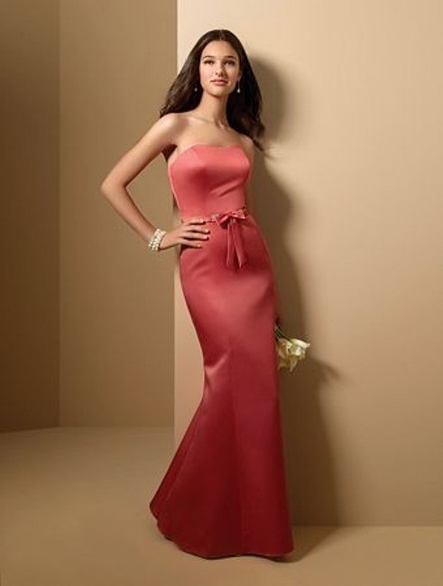 Alfred Angelo Spice Satin Style 7011 Formal Bridesmaid/Mob Dress Size 12 (L) Alfred Angelo Spice Satin Style 7011 Formal Bridesmaid/Mob Dress Size 12 (L) Image 1