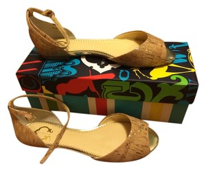 C. Wonder cork with gold flecks Sandals