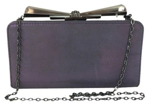 Judith Leiber Overture Carrie Bow Sparkle Purple Clutch