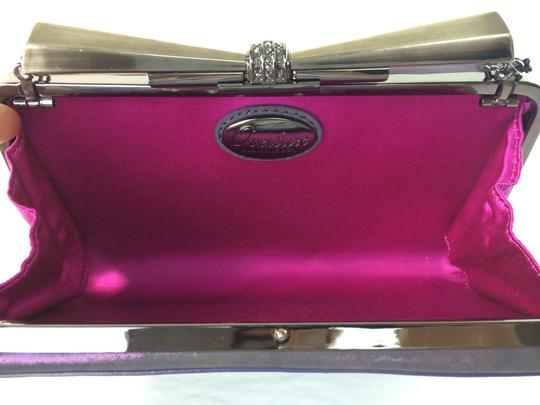 Judith Leiber Overture Carrie Bow Sparkle Evening Purple Clutch