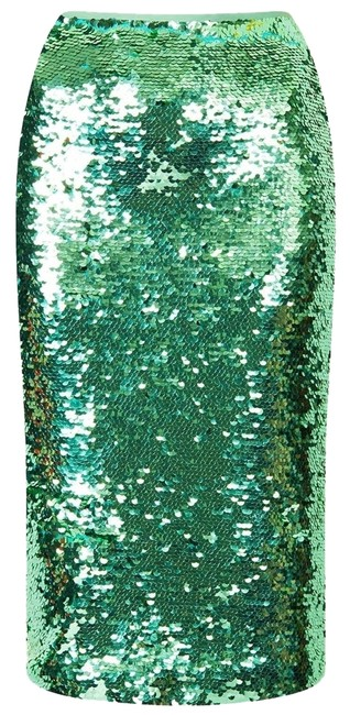 Preload https://img-static.tradesy.com/item/3785827/topshop-green-mint-sequin-fashion-pencil-bodycon-knee-length-skirt-size-2-xs-26-0-0-650-650.jpg