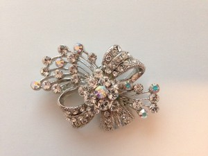 David's Bridal Crystal Embellished Brooch