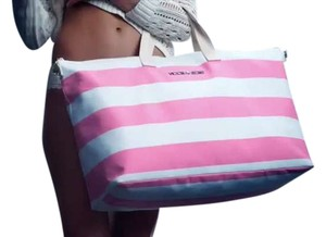 Victoria's Secret Trendy Fashion Getaway Pink/White Travel Bag