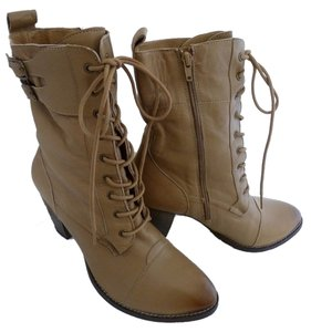 MIA Soft Leather Distressed Tan Boots