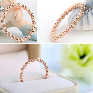 Rose Gold Braided Filled Free Shipping Women's Wedding Band