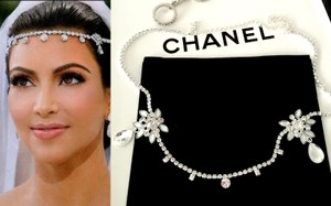 Kim Kardashian Crystal Headpiece Earrings Set