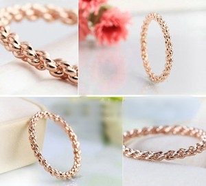 Mystic Braided Rose Gold Filled Wedding Band Free Shipping