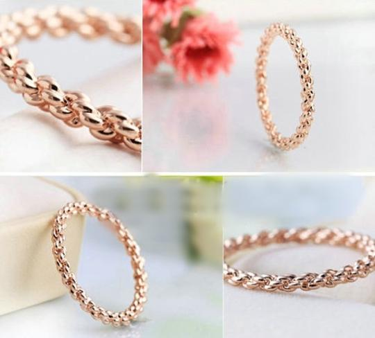 Rose Gold Bogo Free Braided Free Shipping Women's Wedding Band