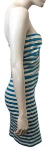 L'AGENCE short dress Blue, white on Tradesy