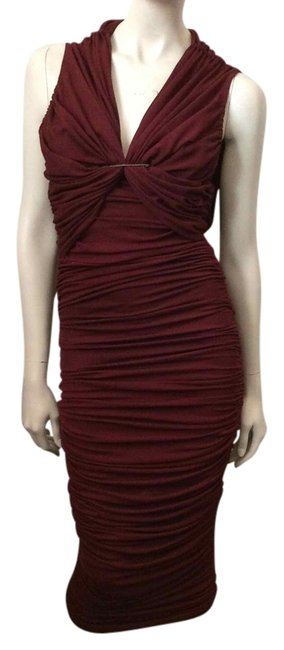 Preload https://item5.tradesy.com/images/lanvin-maroon-ruched-above-knee-formal-dress-size-4-s-3786649-0-0.jpg?width=400&height=650