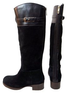 Tory Burch Jenna Suede Black Boots