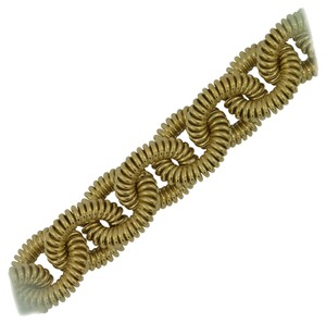 Large Coiled Cable Link Gold Bracelet