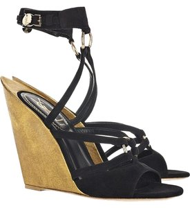 Saint Laurent Ysl Yves Black Wedges