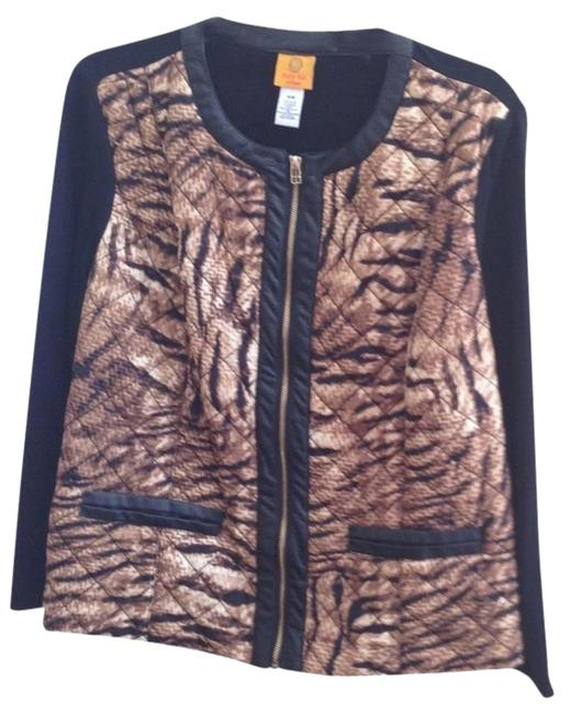 Preload https://item5.tradesy.com/images/ruby-rd-black-and-animal-print-zippered-jacket-pant-suit-size-16-xl-plus-0x-3787519-0-1.jpg?width=400&height=650