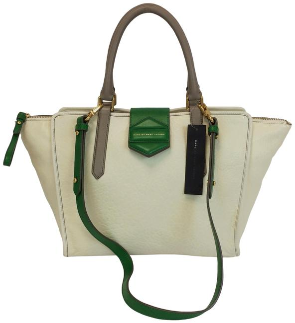 Marc by Marc Jacobs Flipping Out White Birch Leather Tote Marc by Marc Jacobs Flipping Out White Birch Leather Tote Image 1