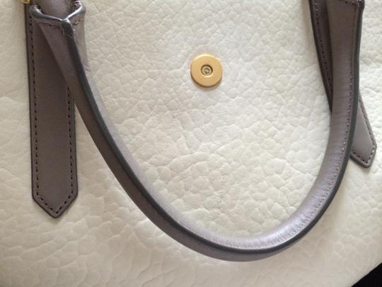 Marc by Marc Jacobs Flipping Out Leather Multicolored Tote in White Birch