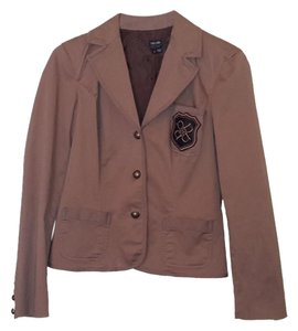 Nicole Miller Crested Jacket Brown Blazer