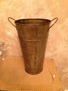 Tinley Road Bronze 5 Tin Vases Reception Decoration