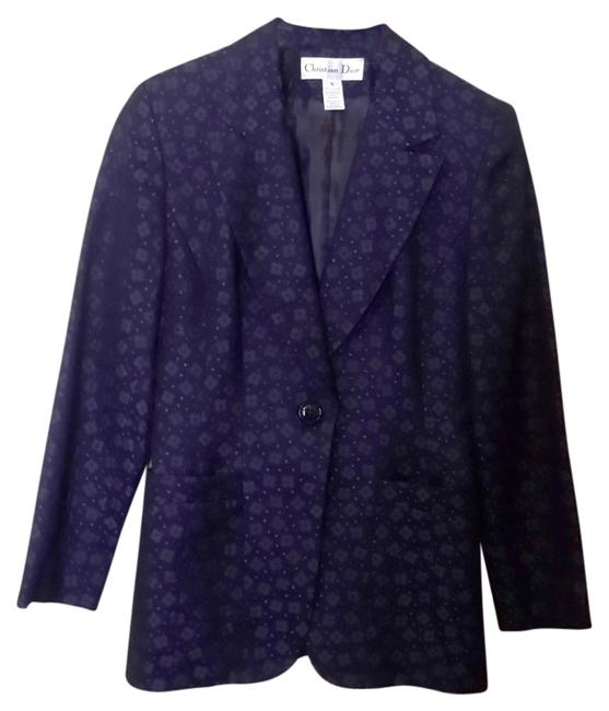 Dior Embroidered Floral Blue Navy Blazer