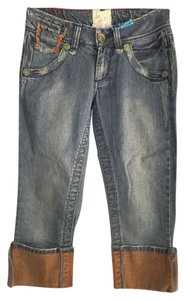 Marlow Vintage original Recycled Fashions Affordable Cloths Fashion Felon X Capri/Cropped Denim-Medium Wash