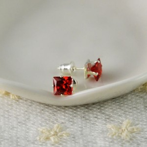 Basket Set Garnet Stud Earrings Free Shipping