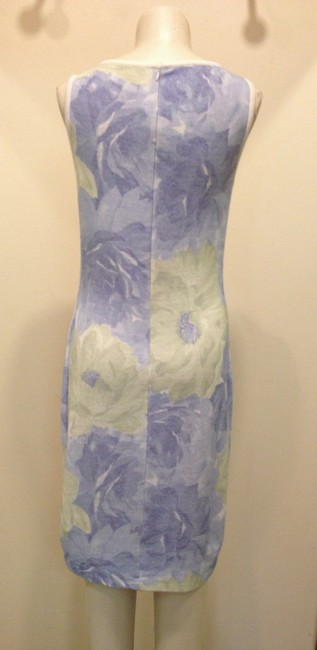 St. John short dress Chambray and Lime Knits Knits Marie Gray Floral Sleeveless Knee-length 06 on Tradesy