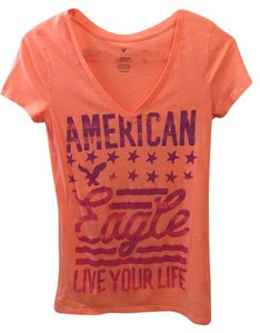 American Eagle Outfitters T Shirt Neon Orange