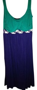 Soprano short dress Blue / Green on Tradesy