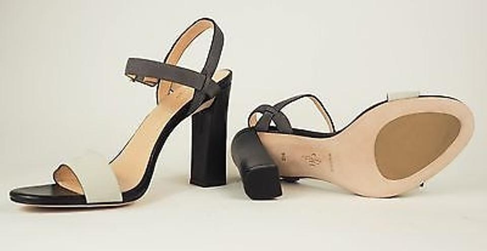 3eda0ee9b4c Cole Haan Minetta Grey Gray Leather Strappy Chunky Sandals Heels Ivory  Pumps. 1234