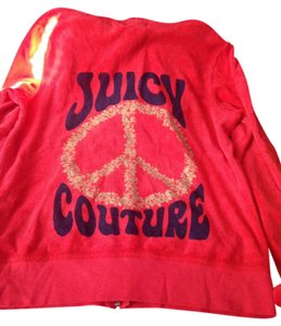Juicy Couture Track Peace Rhinestones Zip Jacket