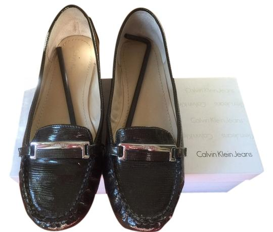 Calvin Klein Amy Burnished Leather Color: Whiskey 9.5 Flats