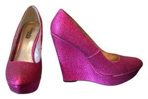 Charlotte Russe Never Worn Sparkle Pink Wedges