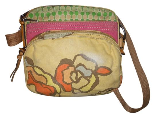Preload https://item1.tradesy.com/images/fossil-distressed-pale-yellow-print-canvas-cross-body-bag-3791875-0-0.jpg?width=440&height=440