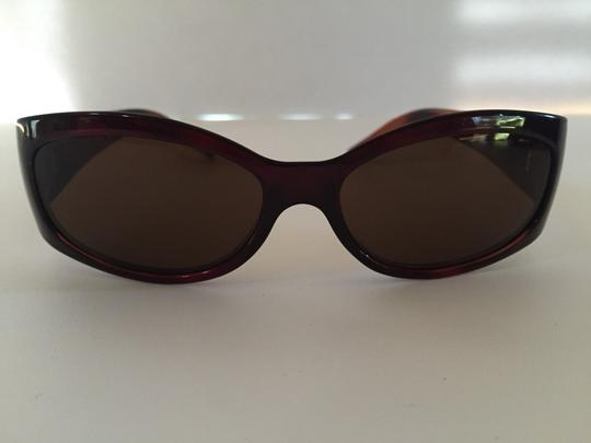 Fendi Fendi Brown Sunglasses With F Logo On Arms