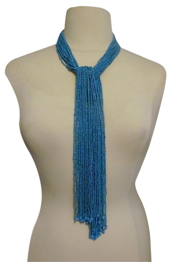 Preload https://img-static.tradesy.com/item/3792178/rj-graziano-turquoise-beaded-fringe-scarf-necklace-0-1-540-540.jpg