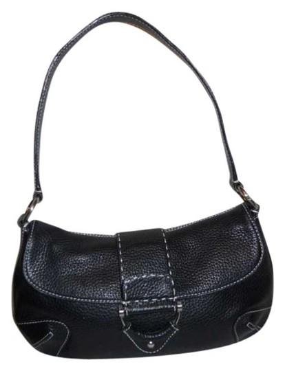 Preload https://item4.tradesy.com/images/kate-landry-pebbled-black-leather-shoulder-bag-379268-0-0.jpg?width=440&height=440