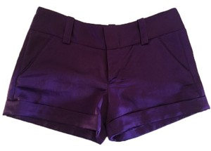 Alice + Olivia Cuffed Shorts Purple