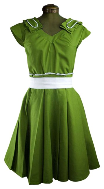 Item - Green Mid-length Short Casual Dress Size 0 (XS)