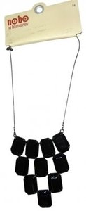 No Boundaries Black rhinestone chunky neckalce