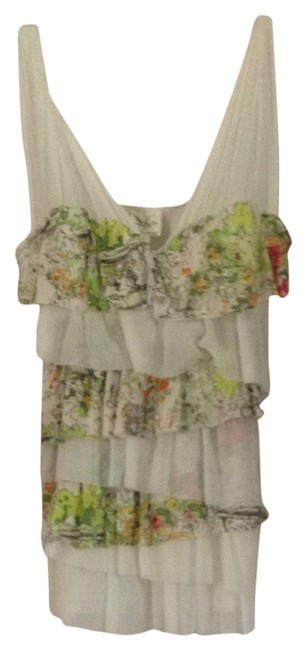 Anthropologie Top Cream Green Multi