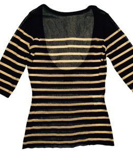 Jean-Paul Gaultier Striped Mesh Summer Sweater