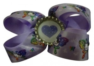 Hello Kitty purple snap hair bow