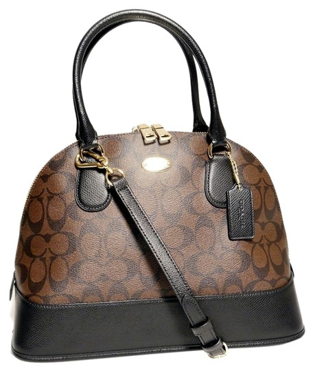Preload https://item3.tradesy.com/images/coach-signature-domed-black-and-brown-canvas-satchel-3794347-0-0.jpg?width=440&height=440