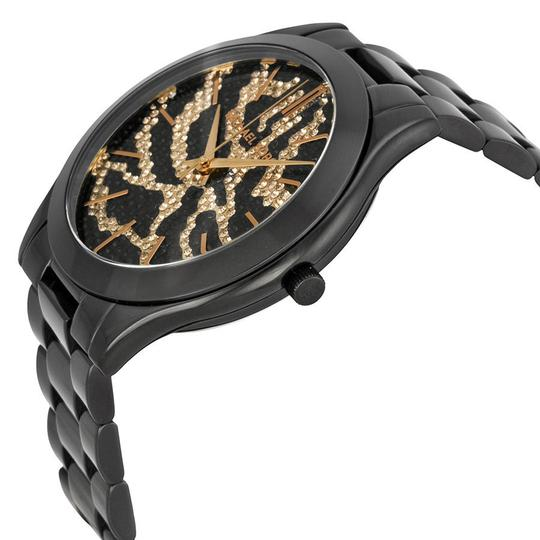 Michael Kors Michael Kors Black Ion Plated Zebra Print Pave Dial Ladies Watch