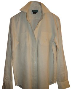 Ralph Lauren 100% Linen Career Shirt Button Down Shirt Beige