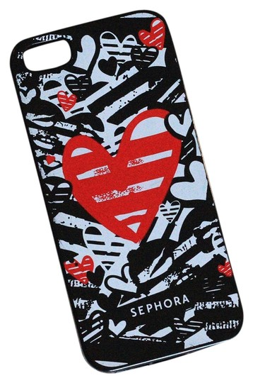Preload https://img-static.tradesy.com/item/3794917/sephora-black-white-and-red-heart-5s-iphone-case-tech-accessory-0-0-540-540.jpg