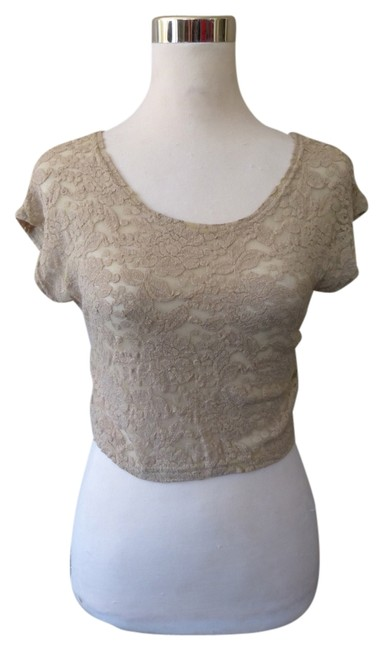 Item - Beige By Anthropologie Crop Blouse Size 8 (M)