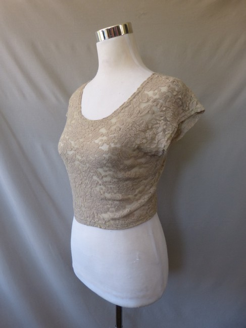 Piko 1988 Lace Top Beige