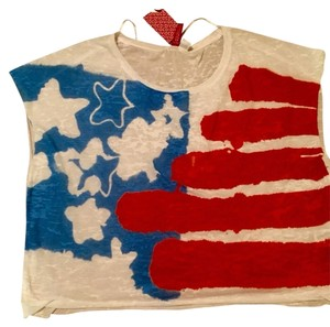 American flag Top Red/white/blue