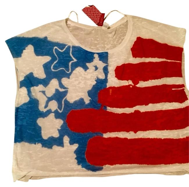 H&M Top Red/white/blue